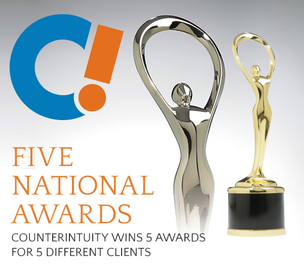 Counterintuity Wins 5 National Awards