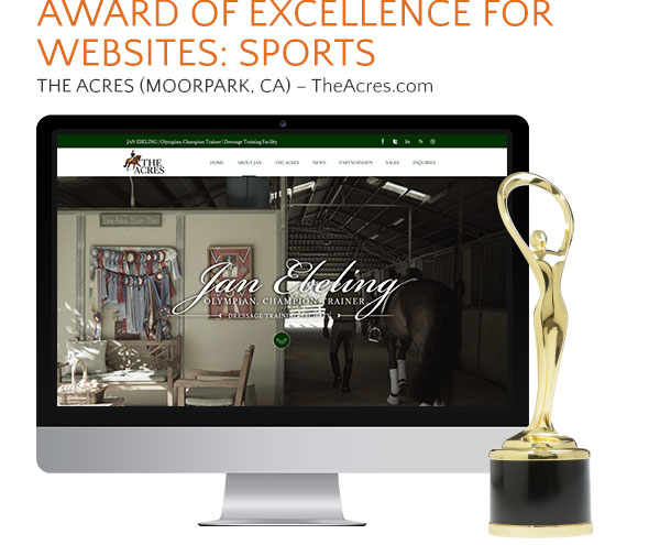 The Acres website award
