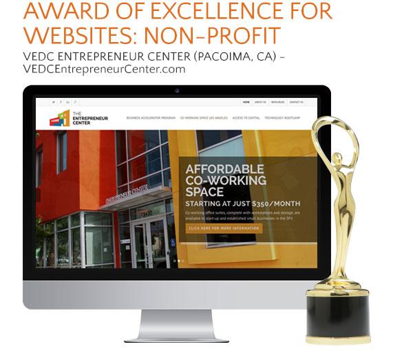 VEDC Entrepreneur Center website award