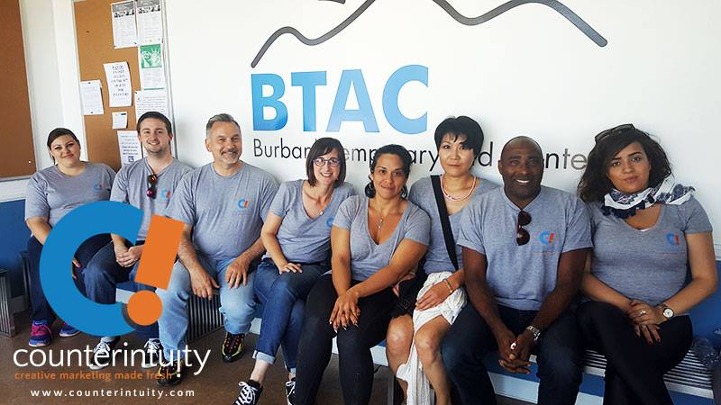 Counterintuity team at Burbank Temporary Aid Center (BTAC)