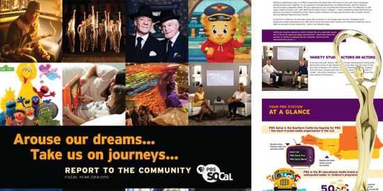 Client Feature: PBS SoCal Award of Distinction for annual report