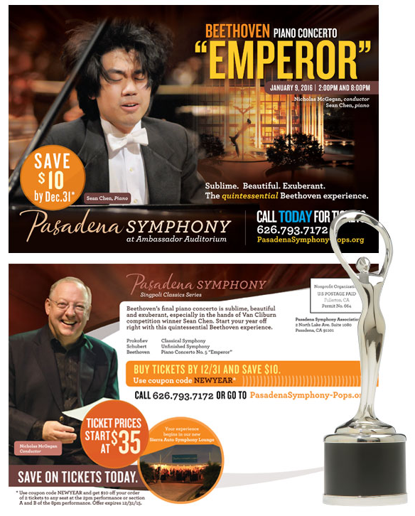 "Client Feature: Pasadena Symphony ""Beethoven Emperor"" wins Award of Distinction for Integrated Campaign"