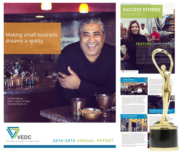 Client Feature: VEDC wins award of distinction for annual report brochure