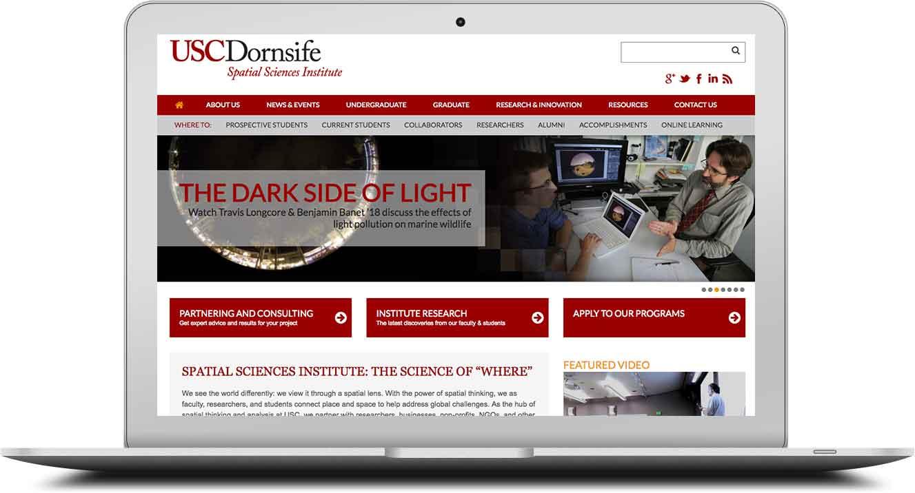 USC Dornsife website