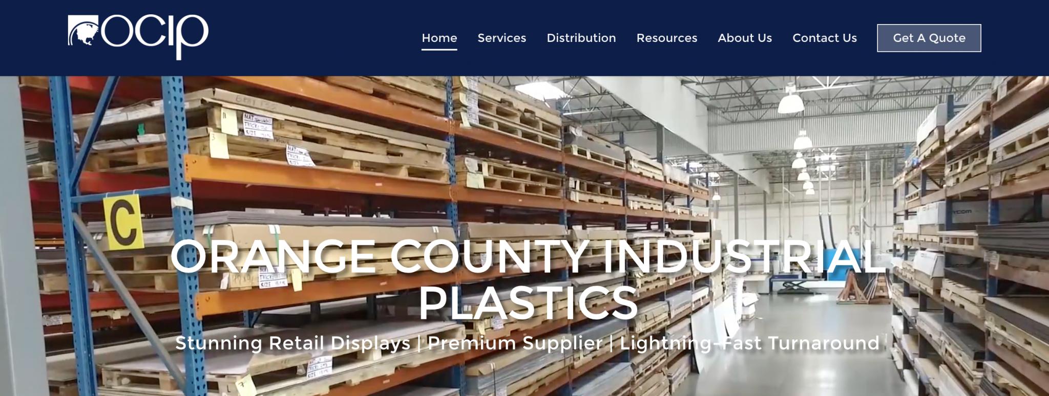 Orange County Industrial Plastics website