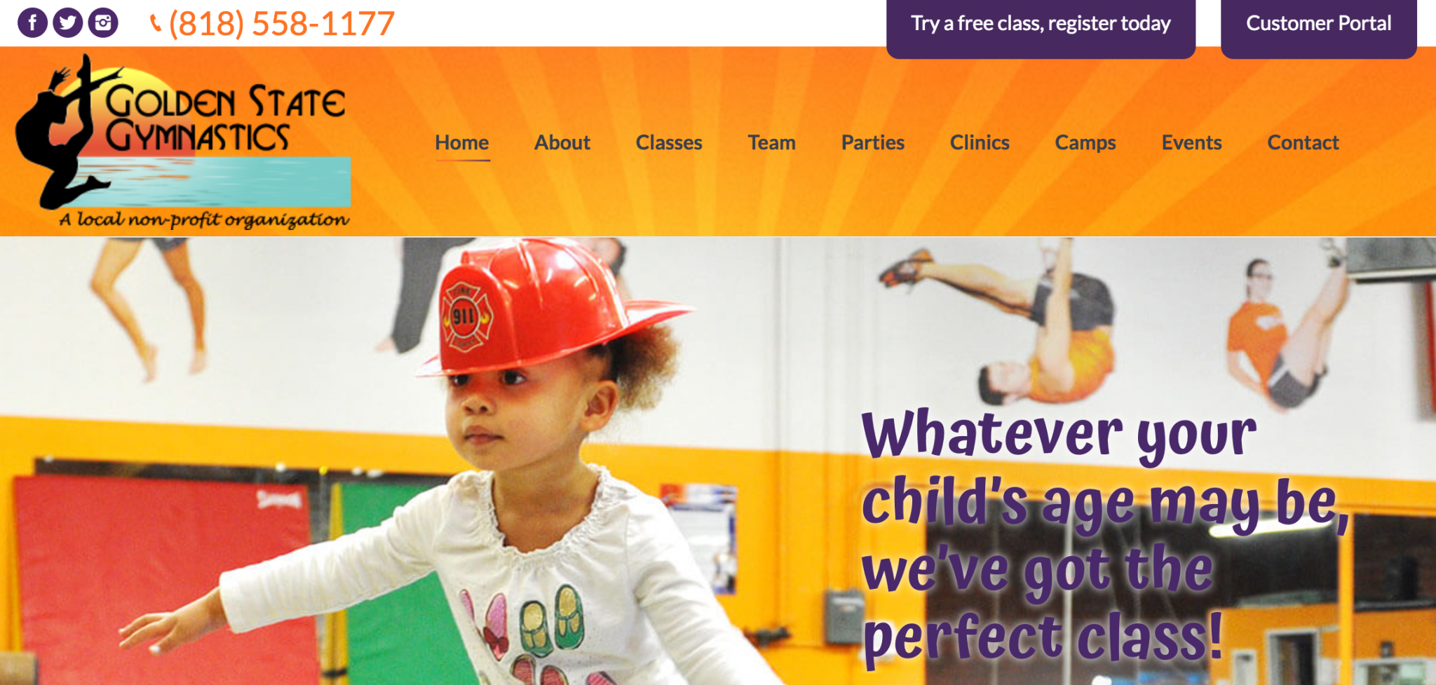 Client Shout-Out: Golden State Gymnastics Website