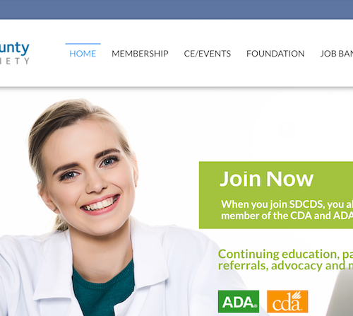 Say Cheese! San Diego Dental Society's New Website is Ready for Its Close-Up
