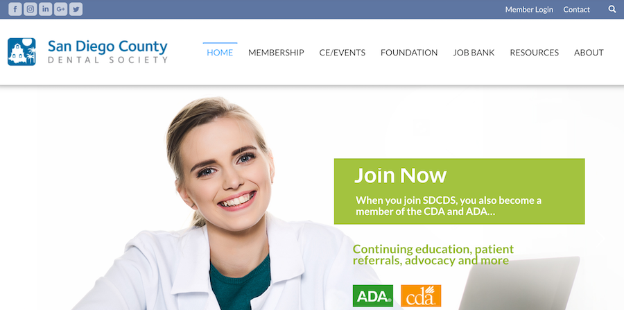 Say Cheese! San Diego County Dental Society's New Site is Ready for Its Close-Up