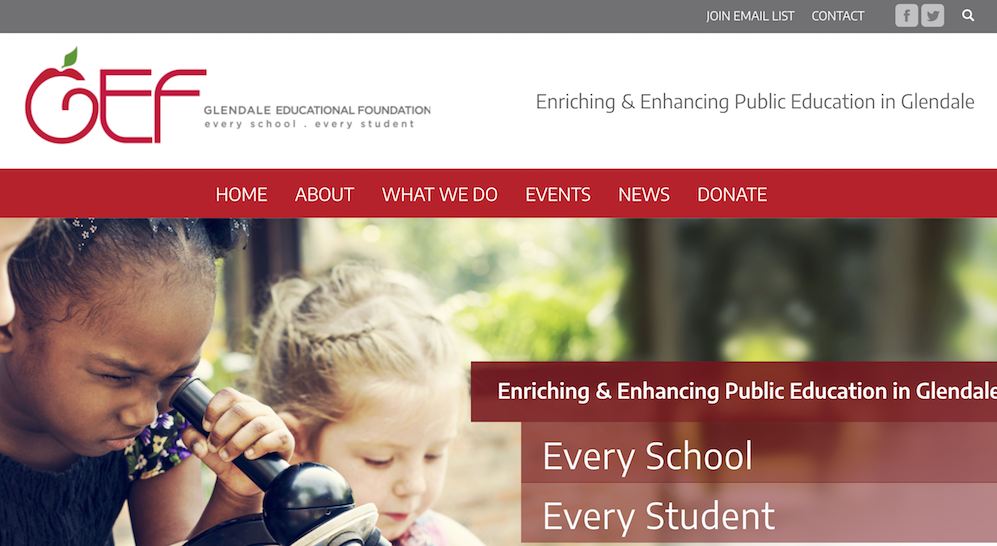 Upgrade Alert: Glendale Education Foundation's New Site is Outta Sight