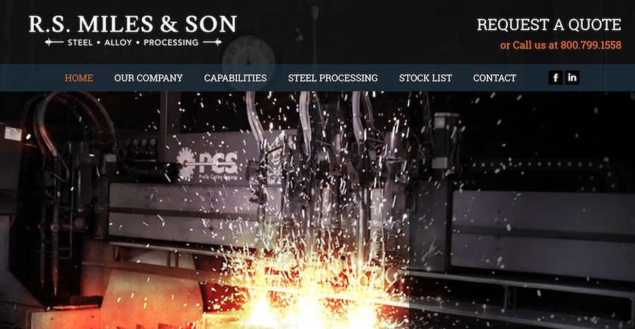 R.S. Miles Steel Website: Old Heritage Meets New Technology