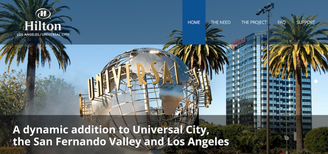 Hilton Universal Project: 15 Stories, 365 Rooms & 1 Sleek Website