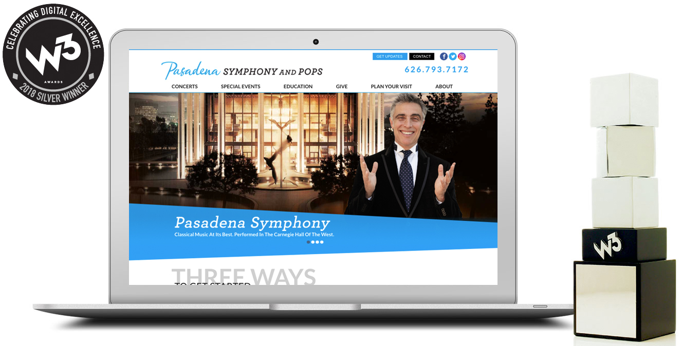Counterintuity w3 awards Pasadena Symphony