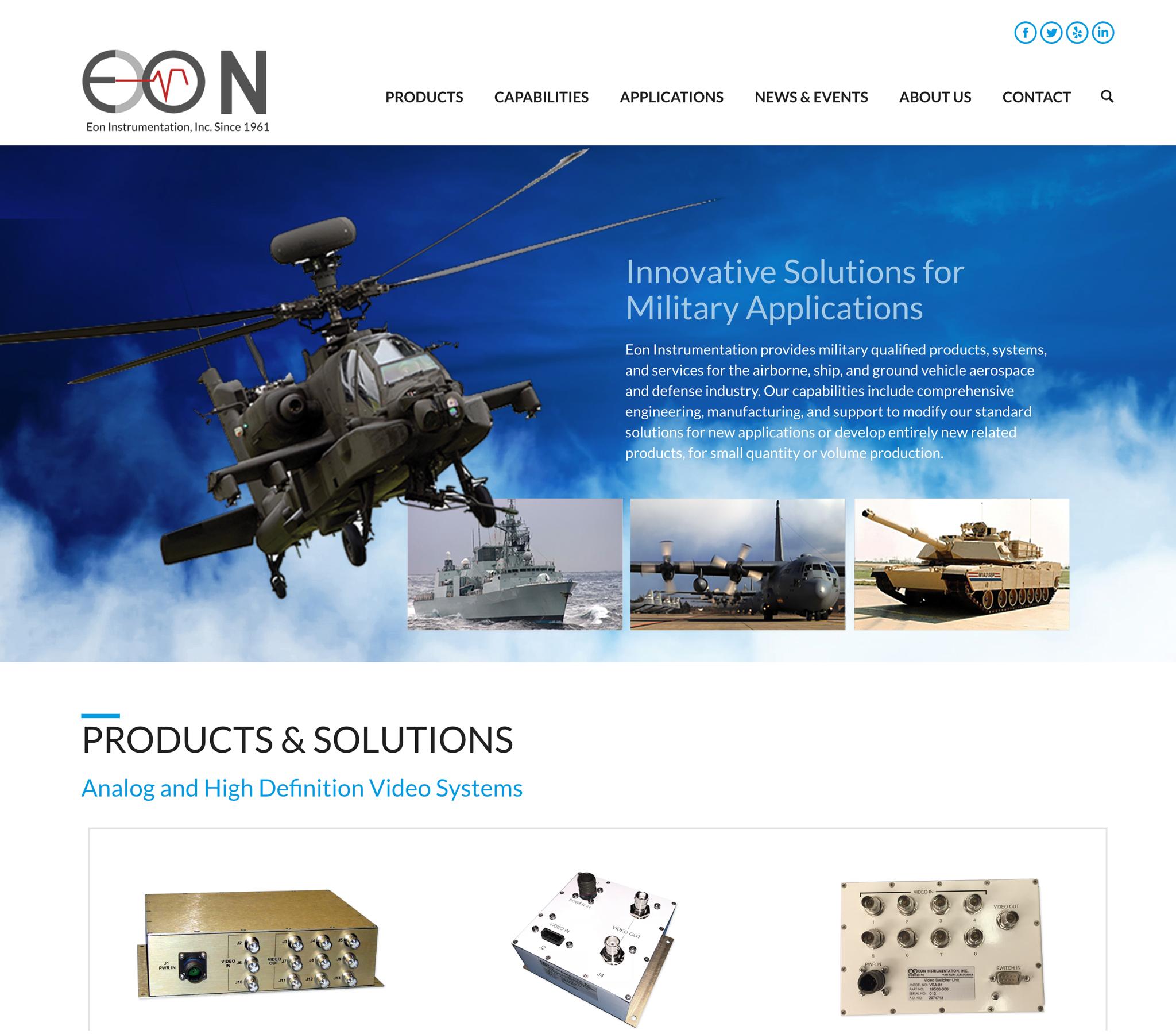 Eon Instrumentation's New Website