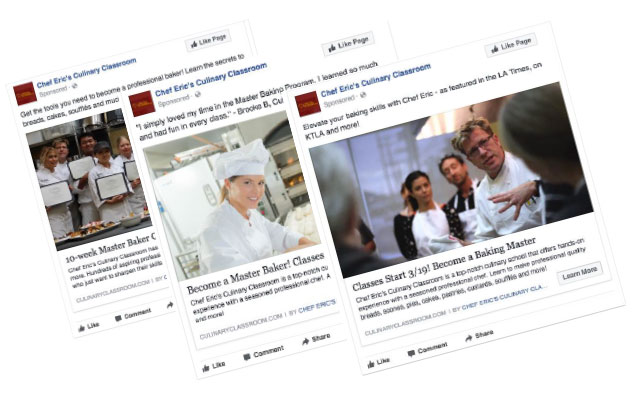 Culinary Classroom Facebook Ads