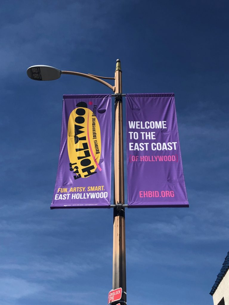 East Hollywood Business Improvement District - Purple banner
