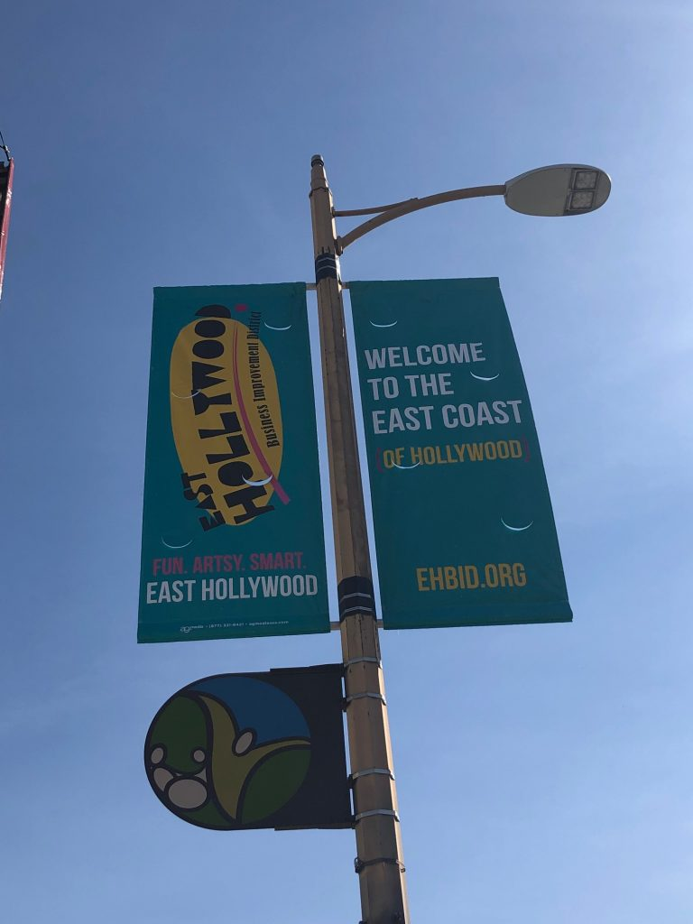 East Hollywood Business Improvement District - Teal banner